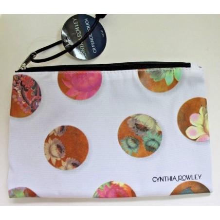 Cynthia Rowley Celestial Dot Pencil Accessory Pouch Bag Case - White