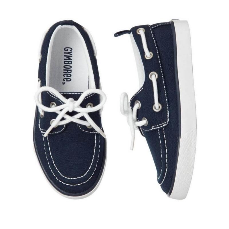 Gymboree Navy Canvas Boat Shoes