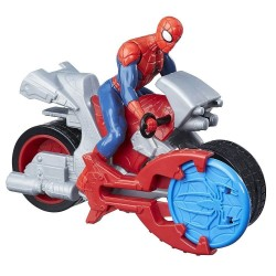 Marcel Spiderman Blast n Go Moto Cycle Racer Figure