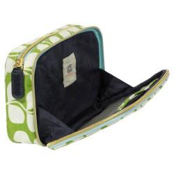 Orla Kiely Small Tulip Double Zip Organizer Cosmetic Bag