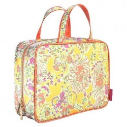Lilly Pulitzer Makeup Cosmetic Bag Weekender Happy Place