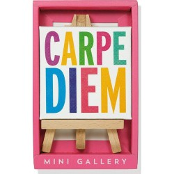 Carpe Diem Mini Gallery - Artwork with Mini Easel
