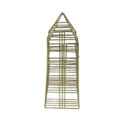Nate Berkus Decorative Metal Stainless Steel Gold Finish Figural Obelisk