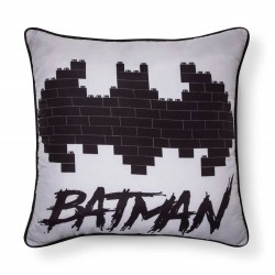 LEGO Batman Movie Gray & Black Throw Pillow