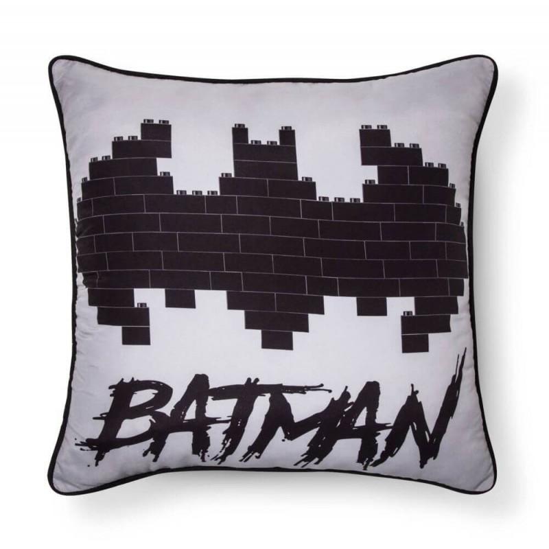 LEGO Batman Movie Gray & Black Throw Pillow