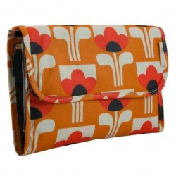 Orla Kiely Multi Olive Big Tulip Hanging Organizer Cosmetic Bag