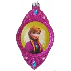Disney Frozen Anna Blown Glass Christmas Ornament 2-Sided