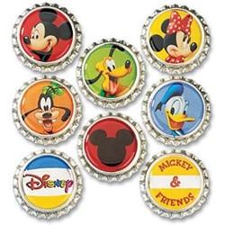 EK Success Disney Mickey Bottle Caps 8-Pack