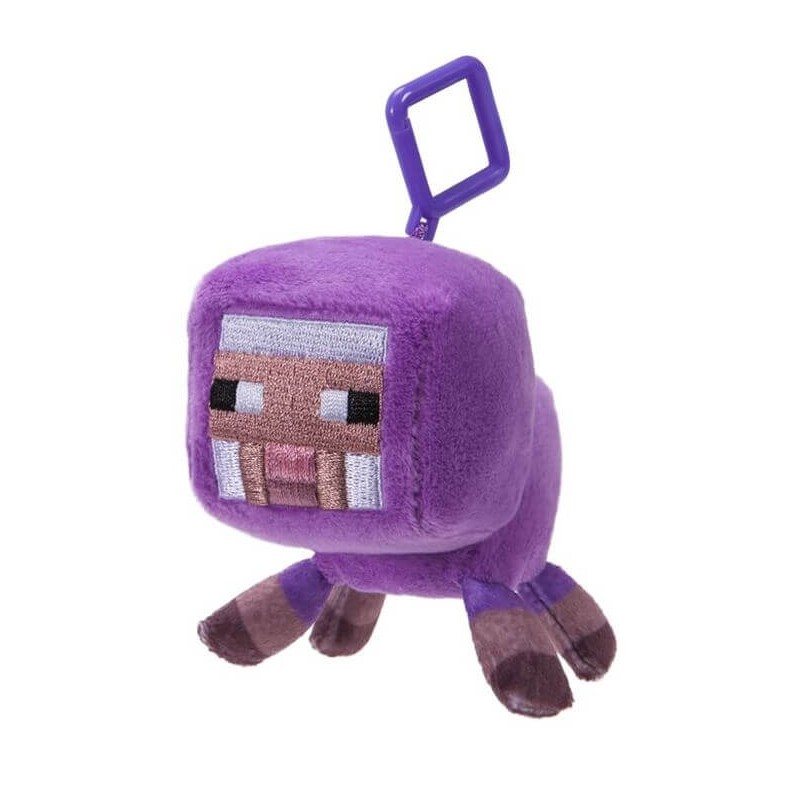 Minecraft Baby Purple Sheep Clip Plush