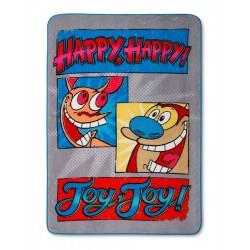 Nickelodeon SPLAT Blue Red Plush Blanket