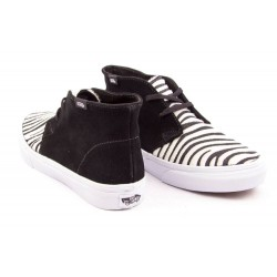 VANS Shoes Chukka Slim Suede Zebara Black True White