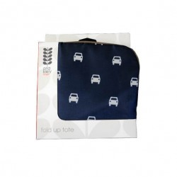 Orla Kiely Fold Up Tote Small Car Print Recycled Bag