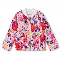 Florabelle Toddler Baby Girls Floral Bomber Jacket