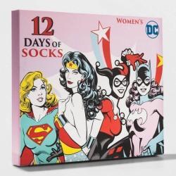 DC Comics Superhero Women's 12 Days of Socks Christmas Advent Calendar