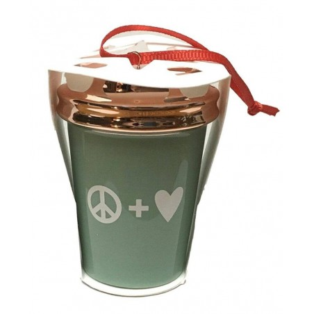 Starbucks 2017 Peace Love Holiday Cup Ornament Rose Gold Mint