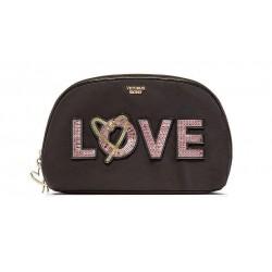 Victoria's Secret Runway Patch Glam Cosmetic Makeup Bag