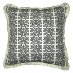 Nate Berkus Black and White Fringed Edge Pillow