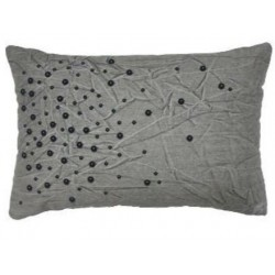 Nate Berkus Beaded Lumbar Pillow - Grey
