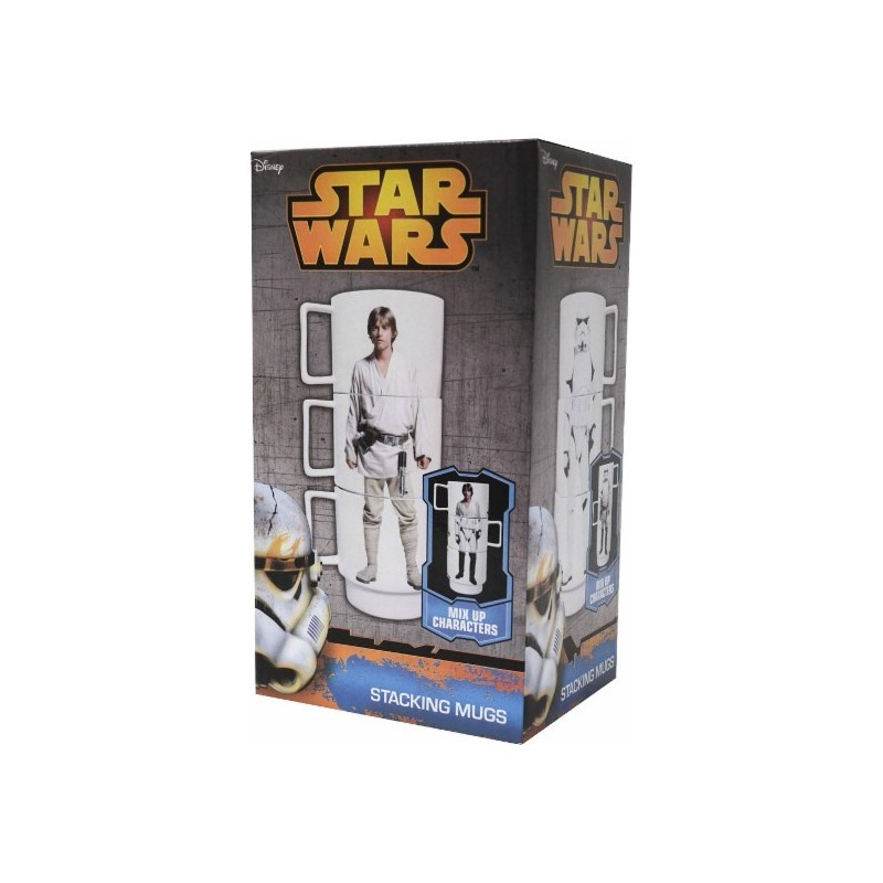 Disney Star Wars Stacking Mugs (3-Count) - Black/White