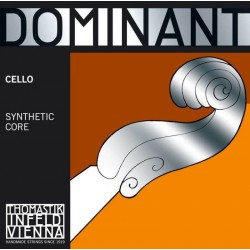THOMASTIK Infeld Dominant Cello 4/4 C String 145A Medium Synthetic Core Silver Wound