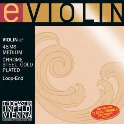 THOMASTIK Infeld Special Preogram Violin 4/4 48MS Medium Chrome Steel Gold Plated E String