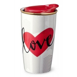 Starbucks Valentine's Day Double Wall Traveler Mug 10 Fl Oz
