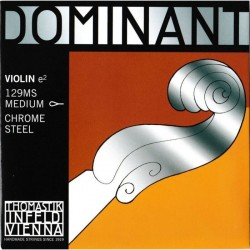 THOMASTIK Infeld Dominant Violin 4/4 129MS Medium Chrome Steel Loop End E String