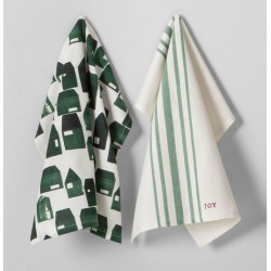 Hearth & Hand with Magnolia House Kitchen Towel 2Pc Set - Cream Green