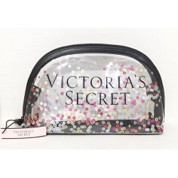 Victoria's Secret Clear Confetti Makeup Cosmetic Bag