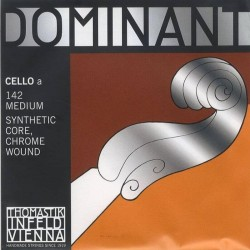 THOMASTIK Infeld Dominant 142 Nylon Core Cello 4/4 A String, Chrome Wound Medium Gauge