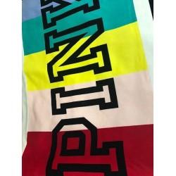 Victoria's Secret PINK Rainbow Sherpa Blanket