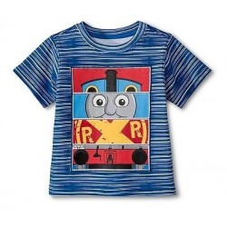 Thomas and Friends Boys Graphic Block Blue Tee - Size 12M