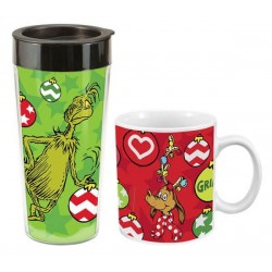 Dr Seuss Ceramic Mug and Plastic Travel Mug Set In Gift Box