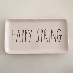 Rae Dunn HAPPY SPRING Plate Tray