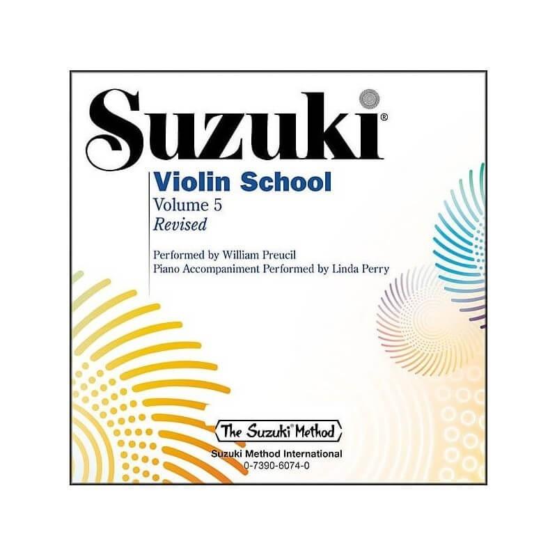 Suzuki Violin School CD Volume 5 by William Preucil and Linda Perry
