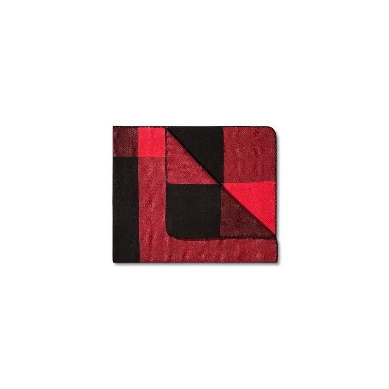 Adam Lippes Reversible Throw - Red and Black Plaid