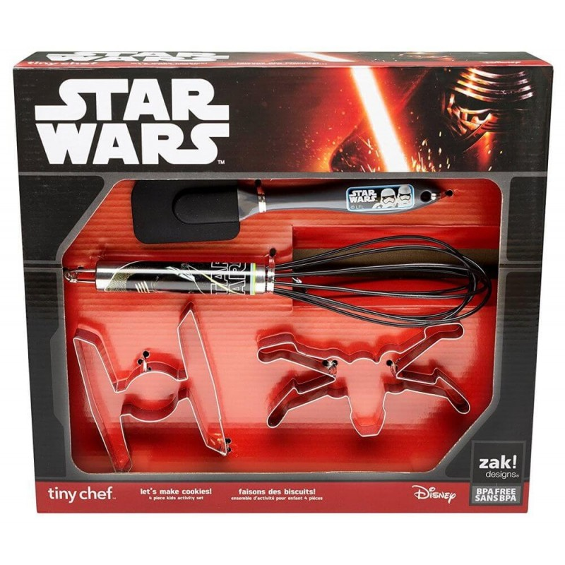 Zak Designs Star Wars Tiny Chef Baking Set featuring Graphics from The Force Awakens