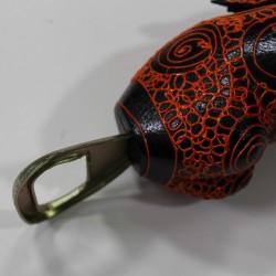 BALI Handpainted Handcrafted Penis Bottle Opener - Black