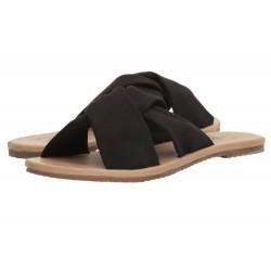 VANS Women Ayla Slide Suede Black Sandals - Size 10