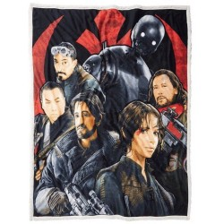 Star Wars Rouge One Mink Faux Sherpa Throw