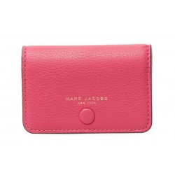 Marc Jacos Leather Snap Front Card Wallet