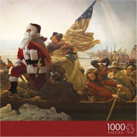 Santa Crossing the Delaware River Puzzle by Ed Wheeler