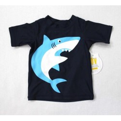 Koala Kids Baby Boys Shark Print Rush Guard Swim Top Shirt