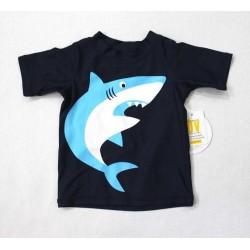 Koala Kids Baby Boys Shark Print Rush Guard Swim Top Shirt