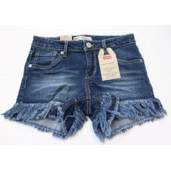 Levi's Girls Blue Denim Shorty Short Waistband Size 10