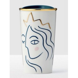 Starbucks 2017 Crowned Siren Anniversary Collection White Double Wall Traveler 10oz
