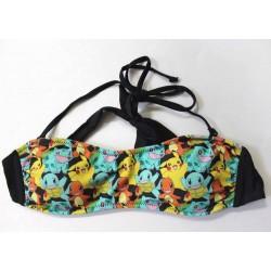 Pokemon Strappy Bandeau Swim Bikini Top - Size L
