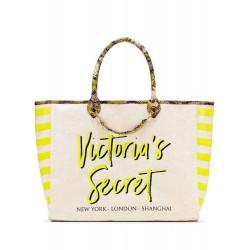 Victoria's Secret Angel City Yellow Striped Python Tote