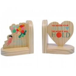 Emmy Winfield  Dream World Wooden Bookends