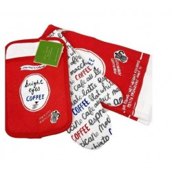 Kate Spade Bright Eyes Coffee Kitchen Set of Towel, Oven Mitt, and Pot Holder